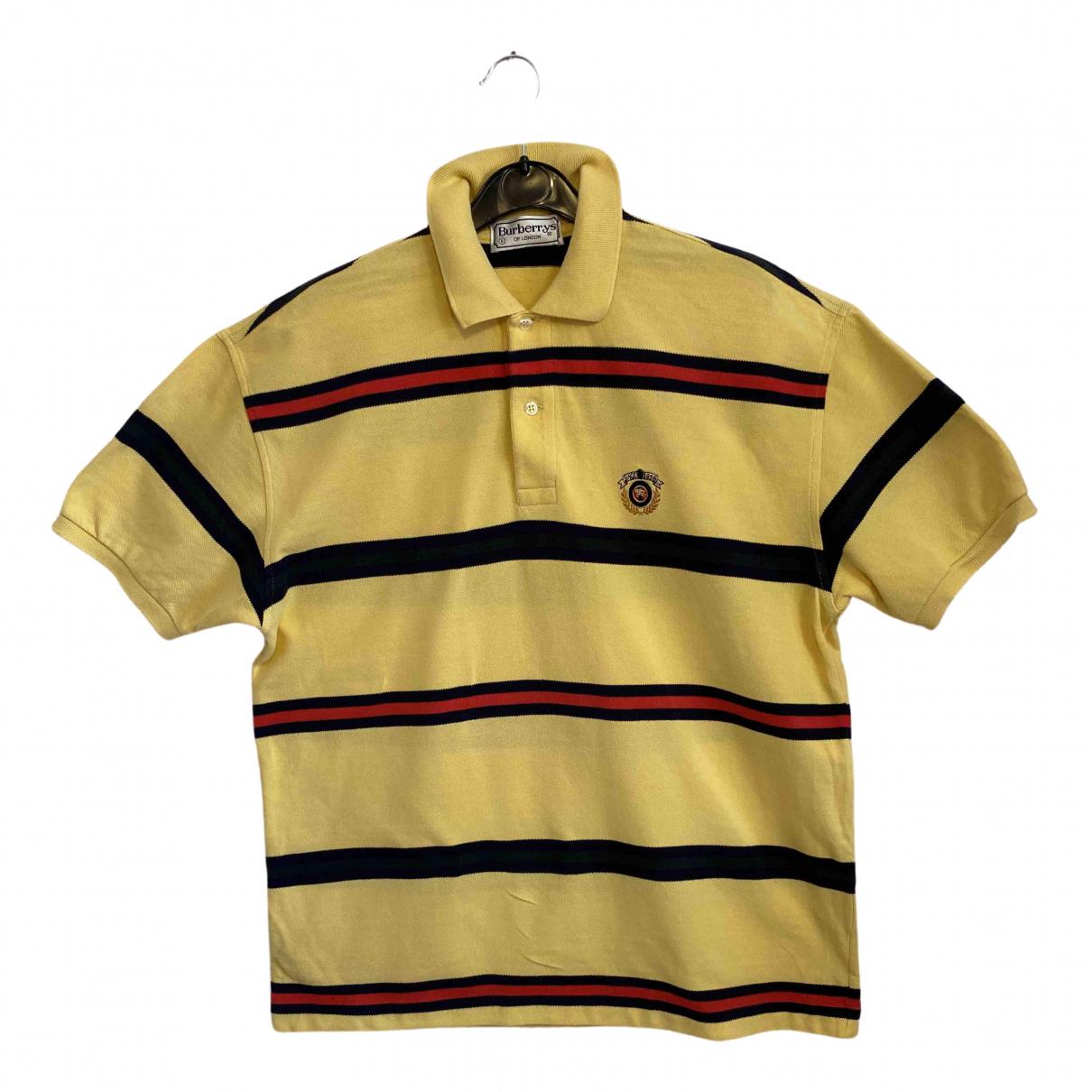 Burberry - Polos   pour homme en coton - jaune