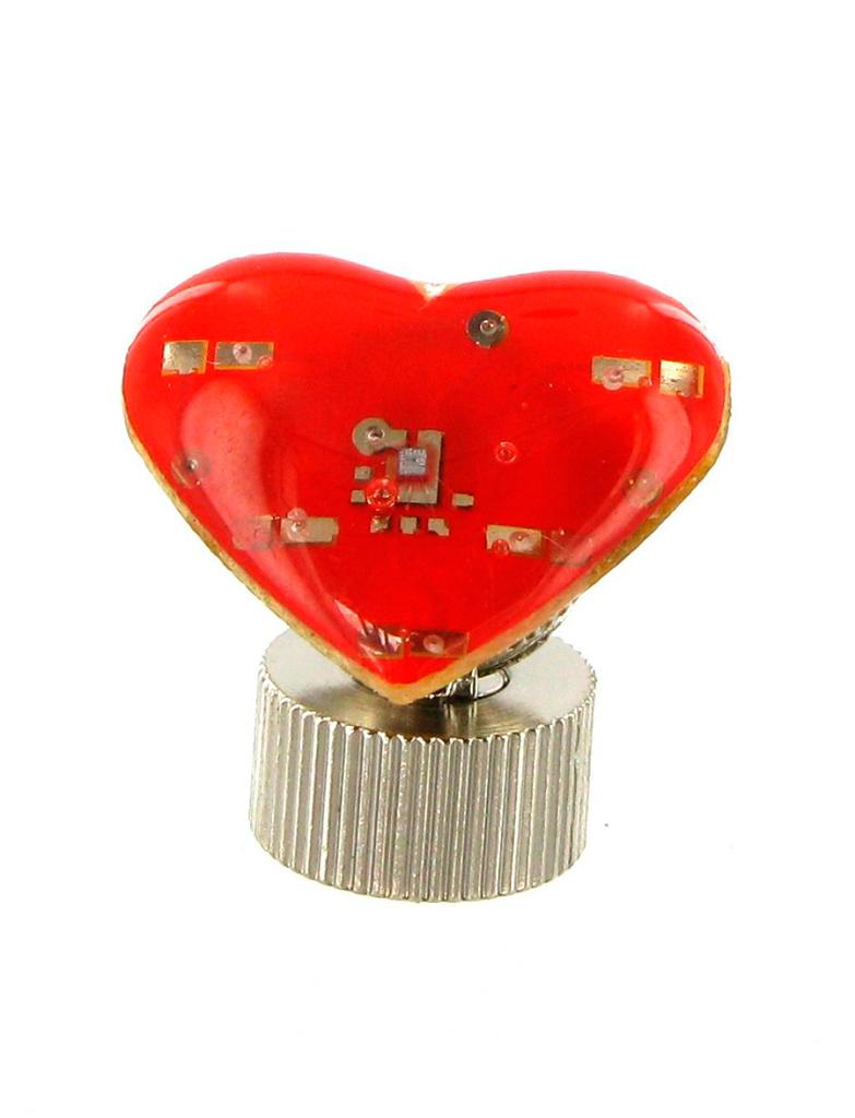 Kostuemzubehor Blinky Herz 2cm Farbe: rot