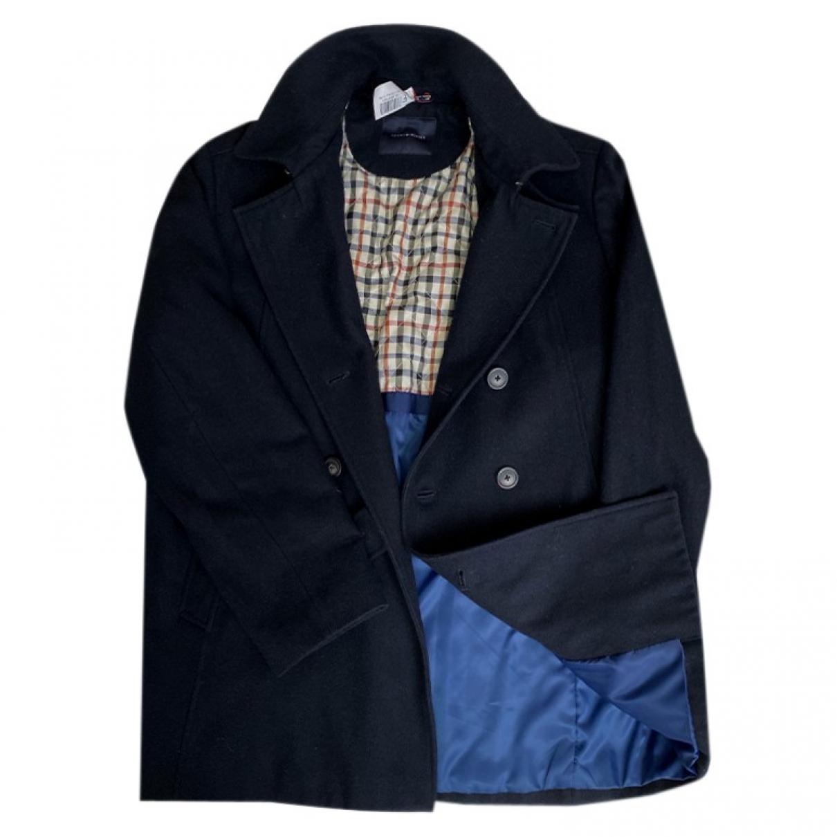 Tommy Hilfiger \N Navy Wool coat  for Men L International