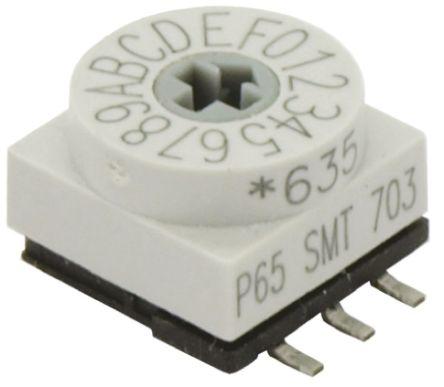 APEM 10 Way Surface Mount DIP Switch, Rotary Flush Actuator