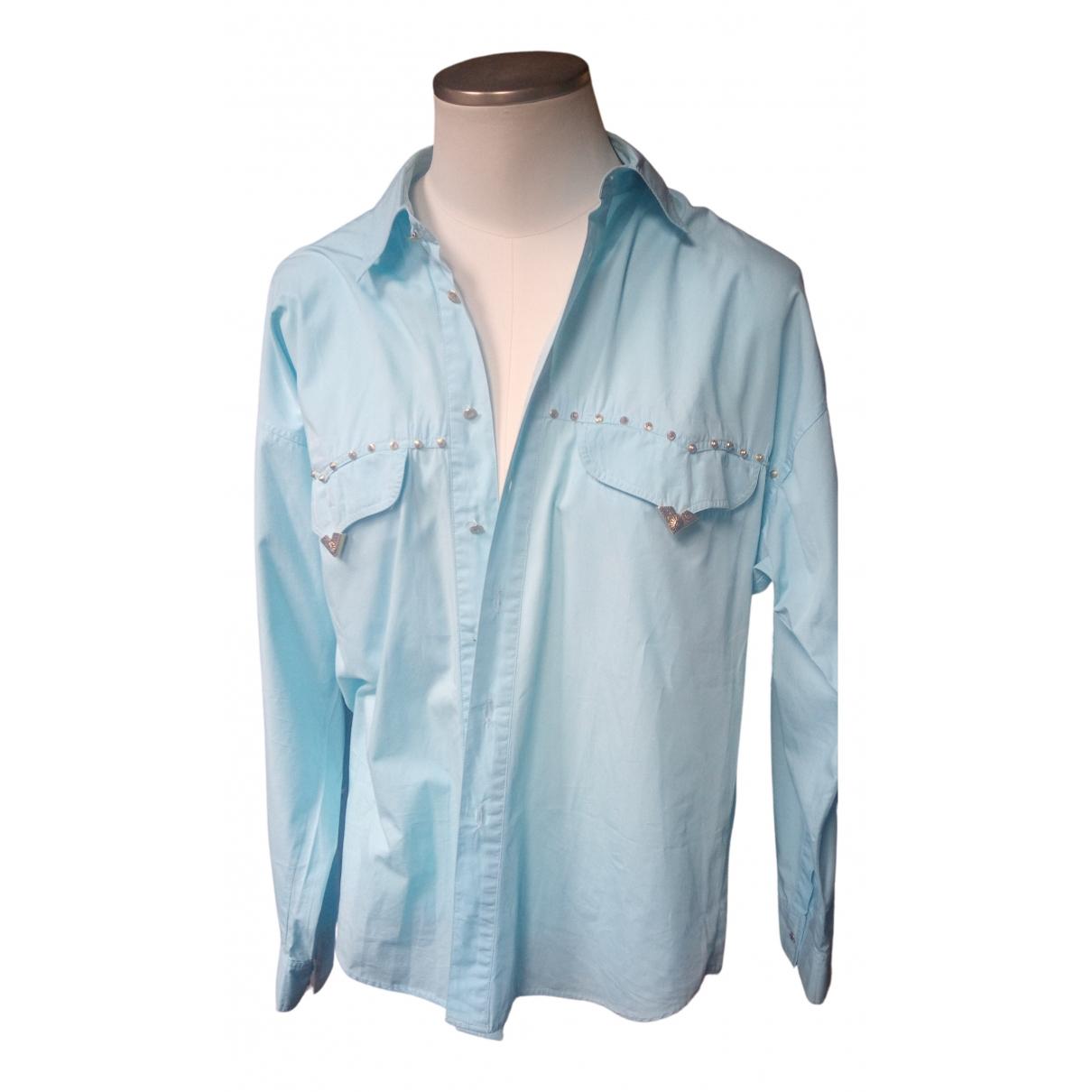 Versace Jean - Chemises   pour homme en coton - turquoise