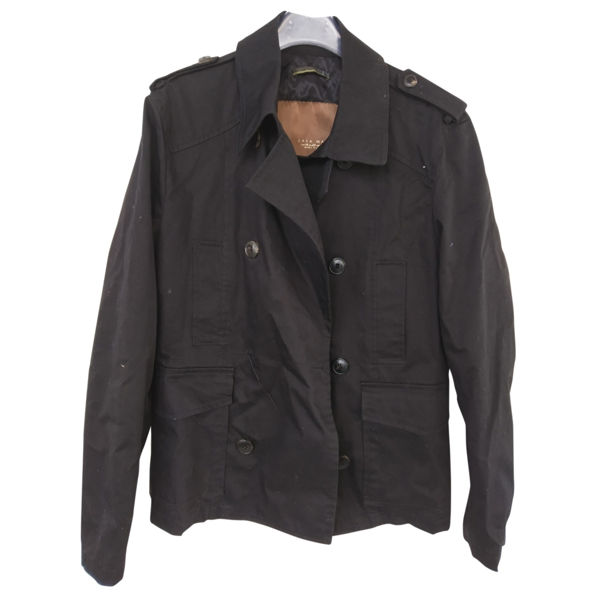 Zara \N Black Cotton jacket  for Men M International