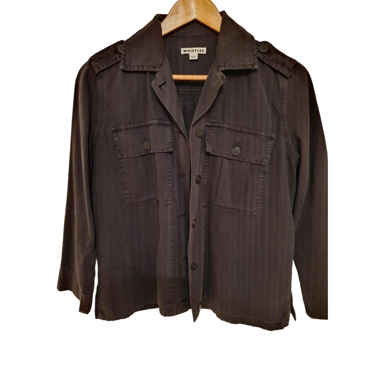 Whistles \N Grey Cotton jacket for Women S International