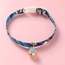 Katze Halskette mit Blumen Dekor