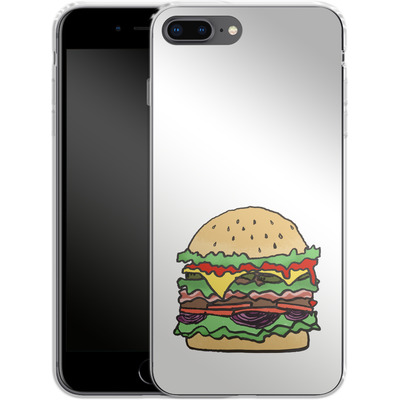 Apple iPhone 8 Plus Silikon Handyhuelle - Burger von caseable Designs