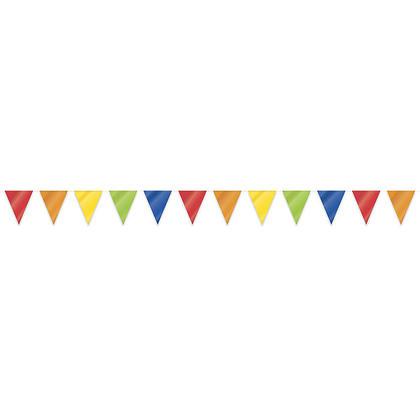 Bannière géante en plastique avec drapeau arc-en-ciel pour décor de fête, 32.8 pi