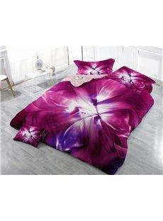 Petal Printed Vintage Dream Wear-resistant Breathable High Quality 60s Cotton 4-Piece 3D Bedding Sets