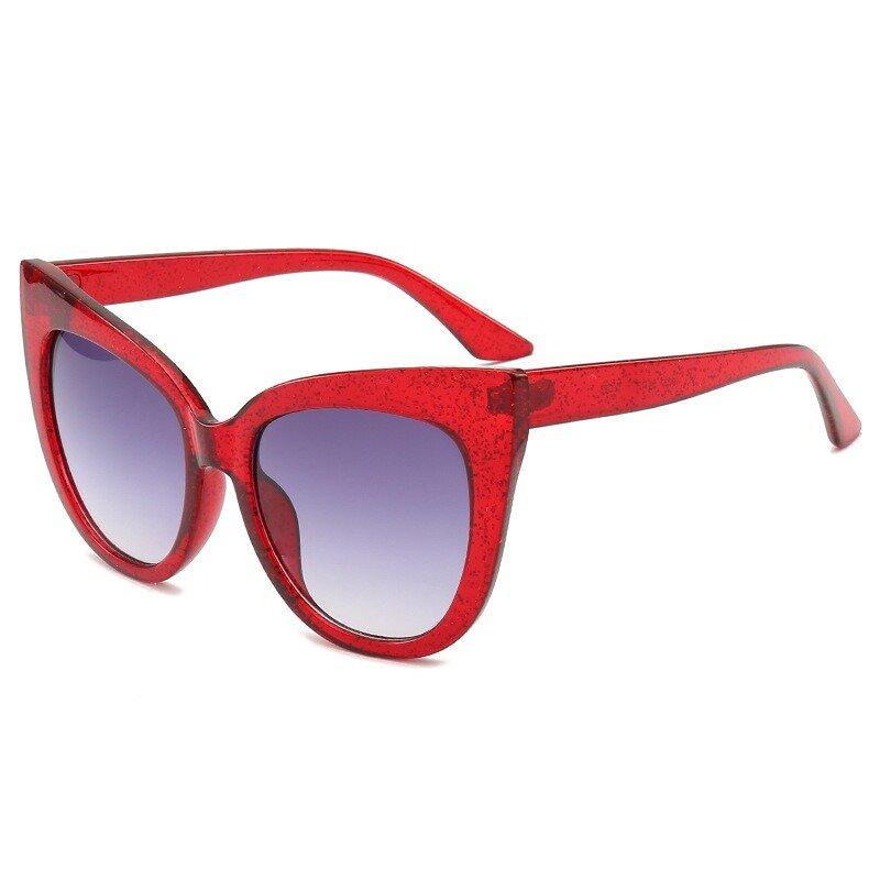 Women Vintage Vogue Print Anti-UV Cat Eye Sunglasses Outdoor Travel Beach Sunglasses