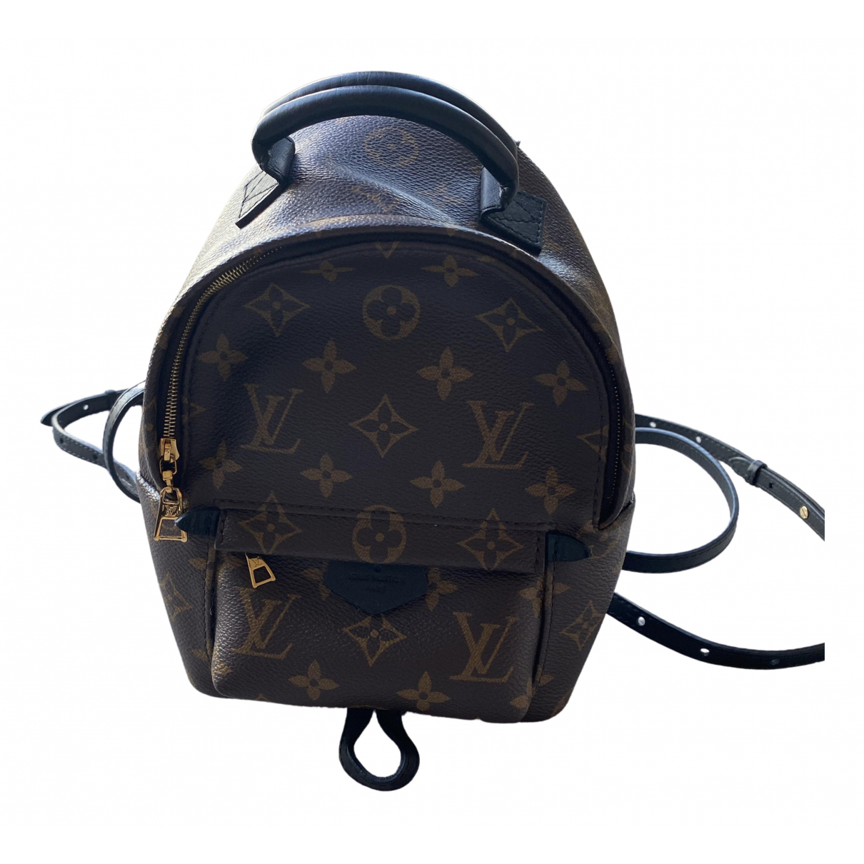 Louis Vuitton - Sac a dos Palm Springs pour femme en toile - marron