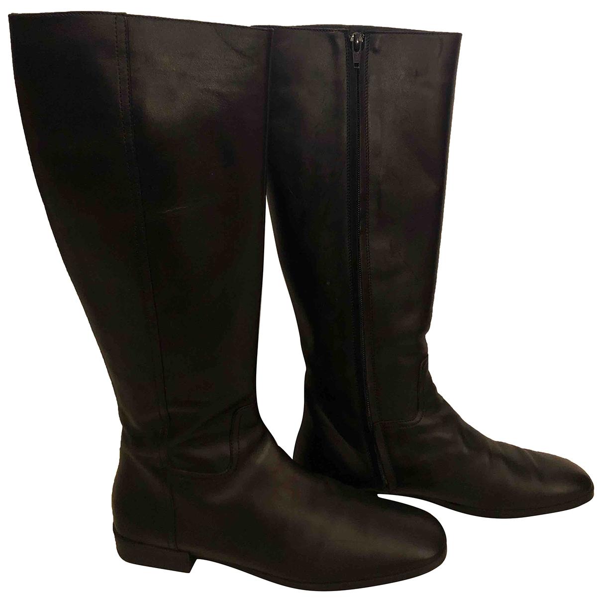 Hogan \N Stiefel in  Schwarz Leder