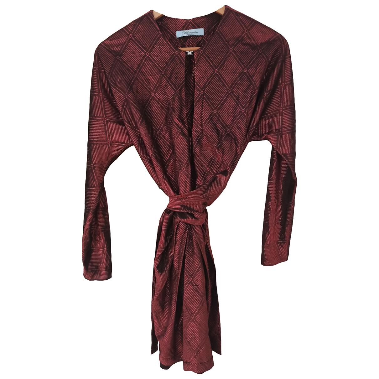 Blumarine \N Kleid in  Bordeauxrot Viskose