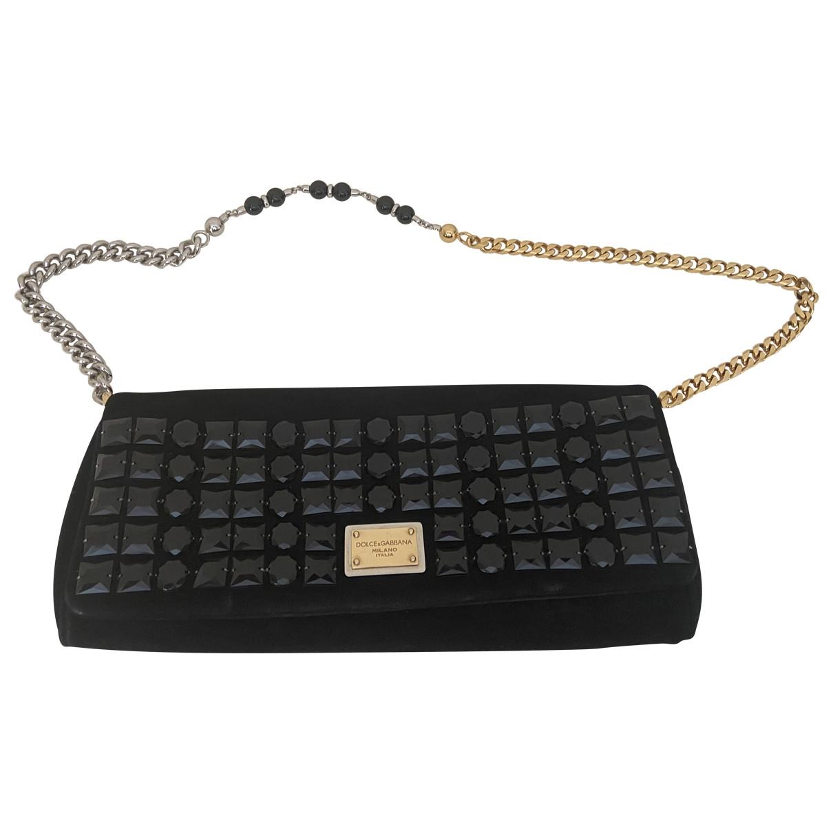 Dolce & Gabbana \N Clutch in  Schwarz Veloursleder