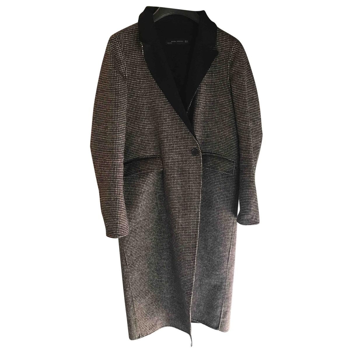 Zara \N Black Wool coat for Women 40 IT