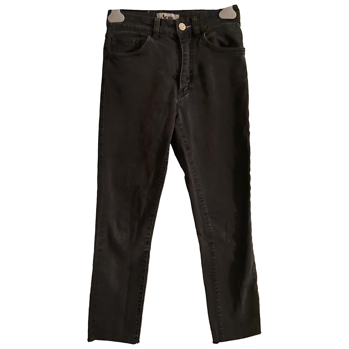 Acne Studios \N Grey Cotton - elasthane Jeans for Women 27 US