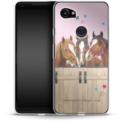 Google Pixel 2 XL Silikon Handyhuelle - Pferdefreunde 3 von Pferdefreunde