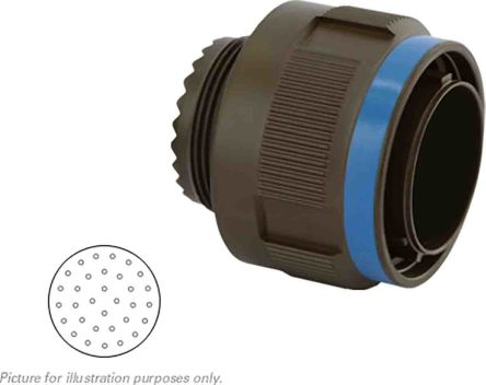 Souriau , 8D 32 Way MIL Spec Circular Connector Plug, Pin Contacts,Shell Size 19, Screw Coupling, MIL-DTL-38999