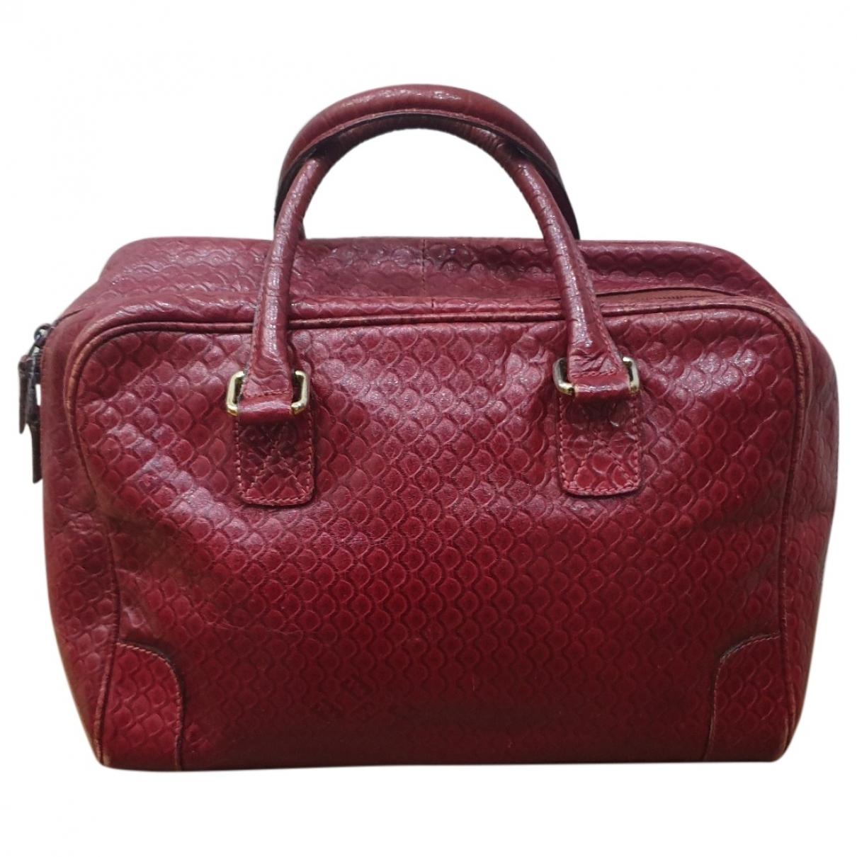 Fendi \N Handtasche in  Bordeauxrot Leder
