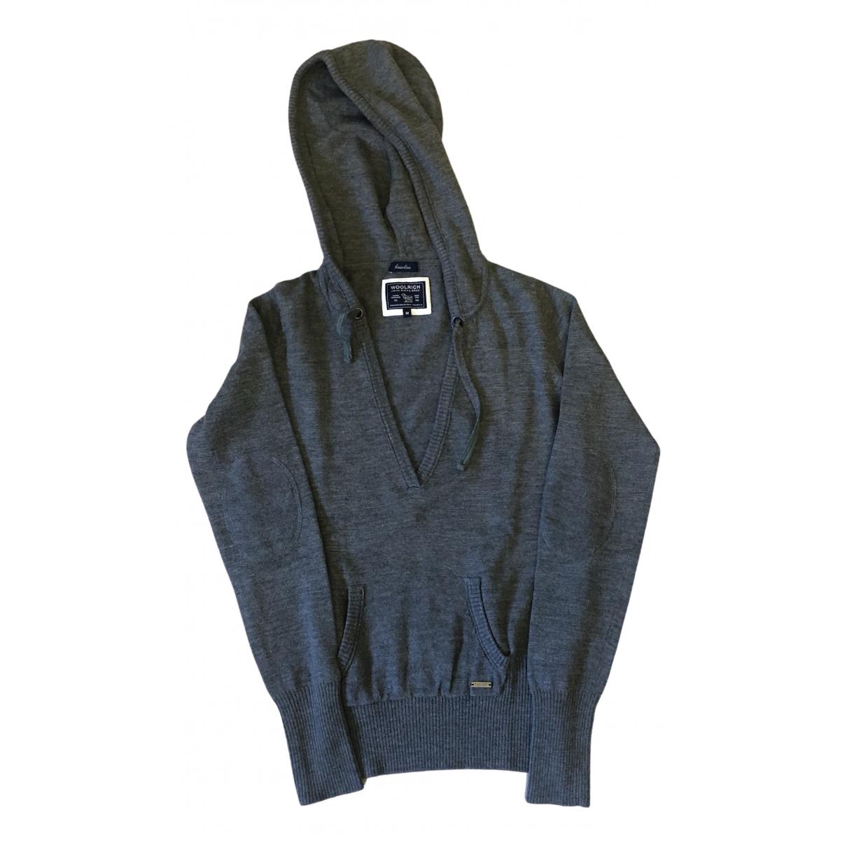 Woolrich - Pull   pour femme en laine - gris
