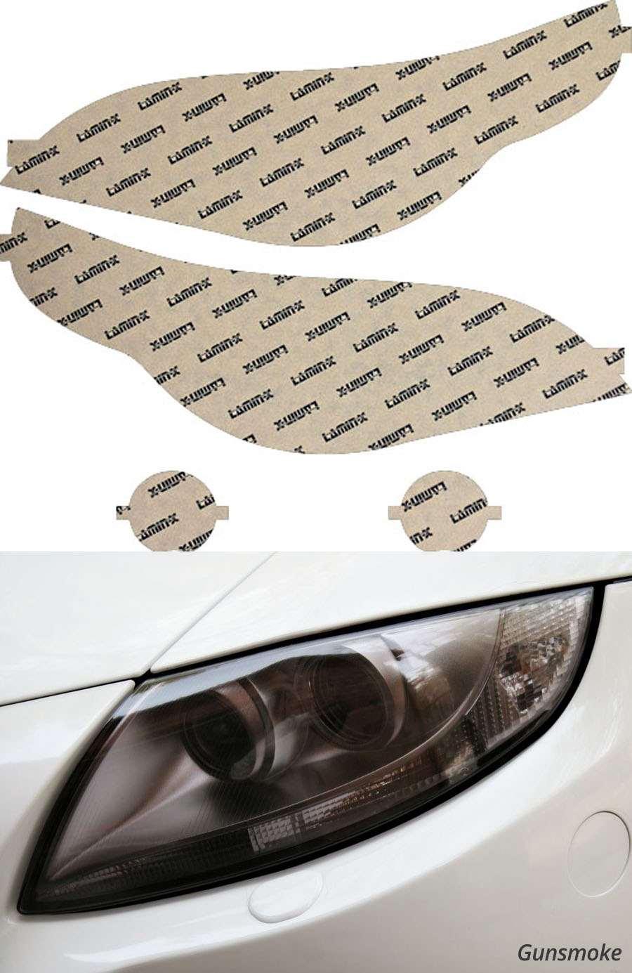 BMW M5 05-10 Gunsmoke Headlight Covers Lamin-X B017-1G