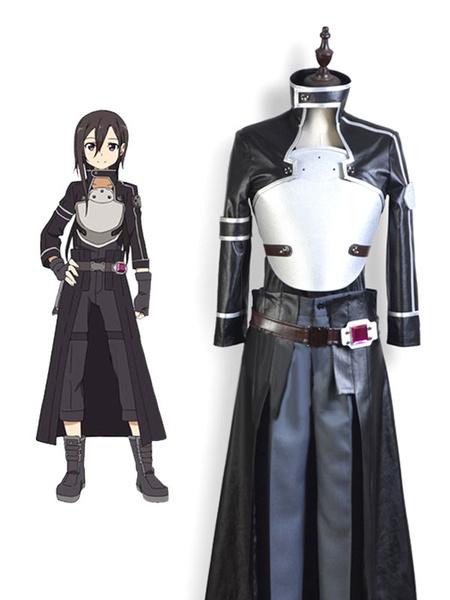 Milanoo Inspired By Sword Art Online II SAO Sodo Ato Onrain Gun Gale Online GGO Kirigaya Kazuto Kirito Cosplay Costume