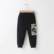 Toddler Boys Camo Flap Pocket Cargo Pants