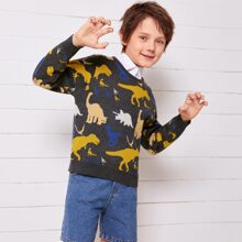 Pullover mit Dinosaurier Muster ohne Shirt