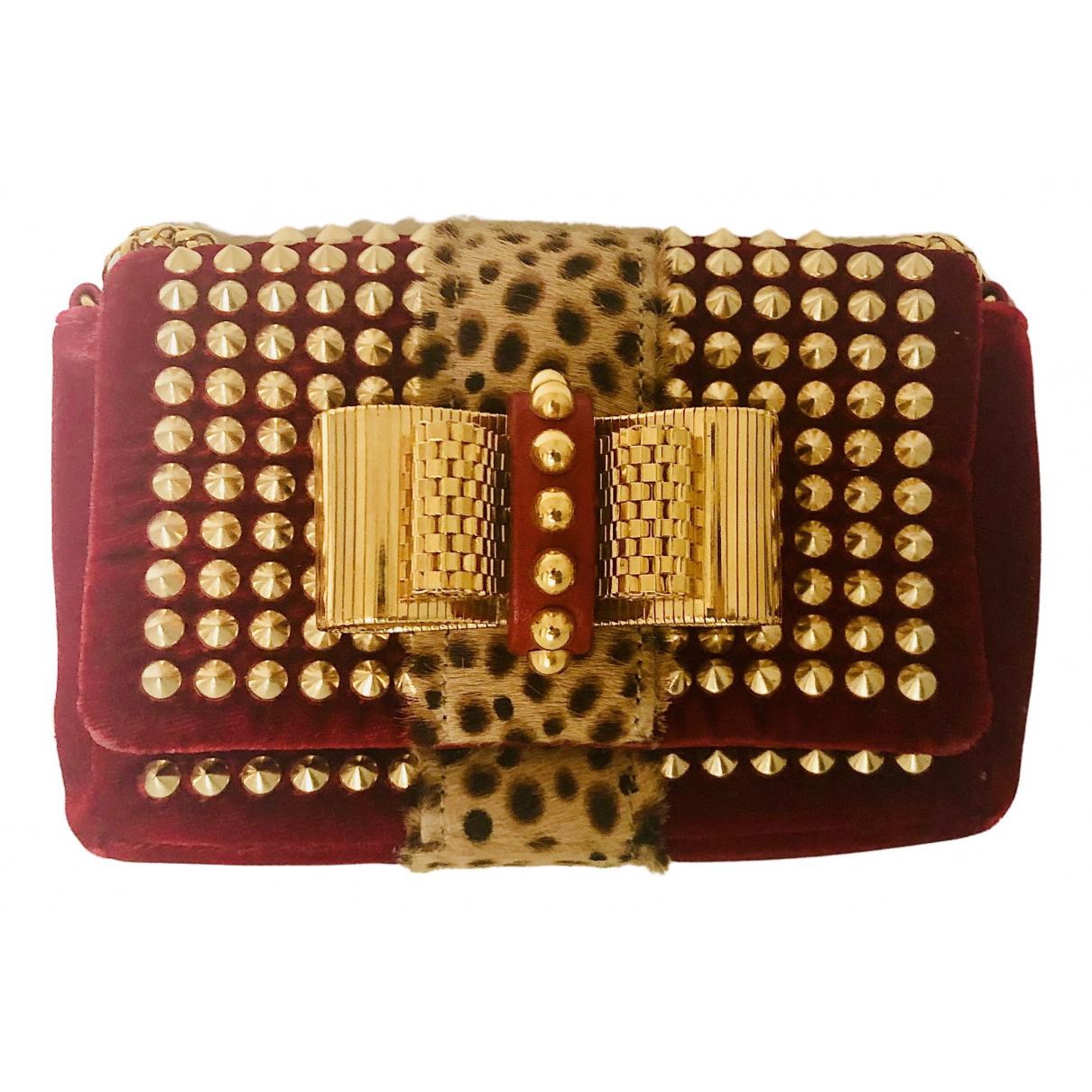 Christian Louboutin N Red Velvet handbag for Women N