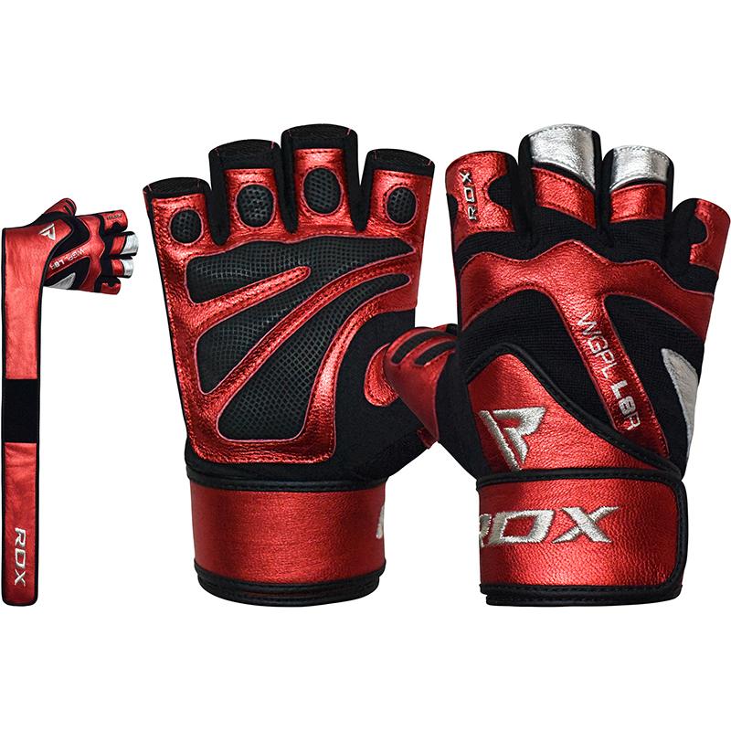 RDX L8 Rouge Gants de Musculation avec Sangle de Poignet