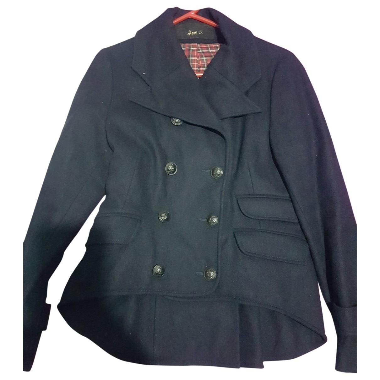 April 77 - Manteau   pour femme en laine - bleu