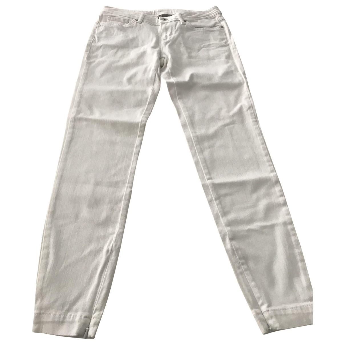 D&g \N White Cotton Trousers for Women S International