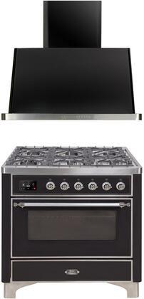 2 Piece Kitchen Appliances Package with UM096DNS3BKC 36
