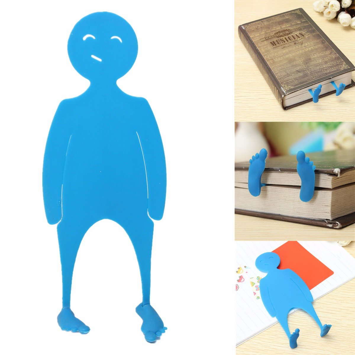Creative Blue Cartoon Character Shape Bookmark PE Book Page Marker