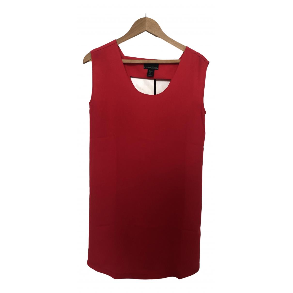 Cynthia Rowley \N Kleid in  Rot Viskose