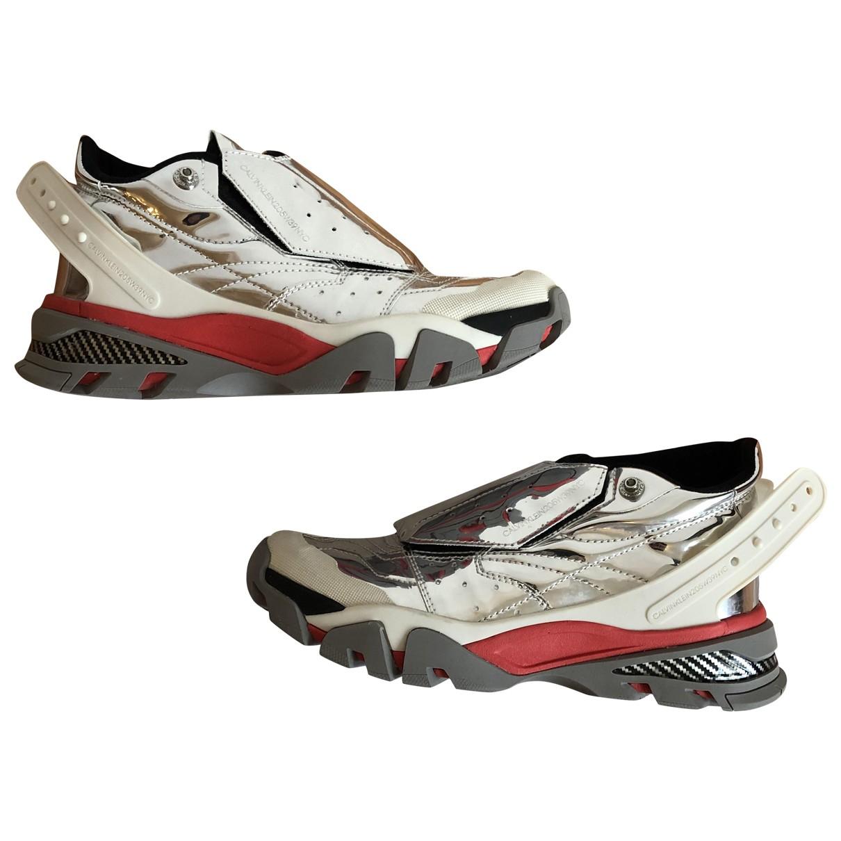 Calvin Klein 205w39nyc \N Sneakers in  Silber Leder