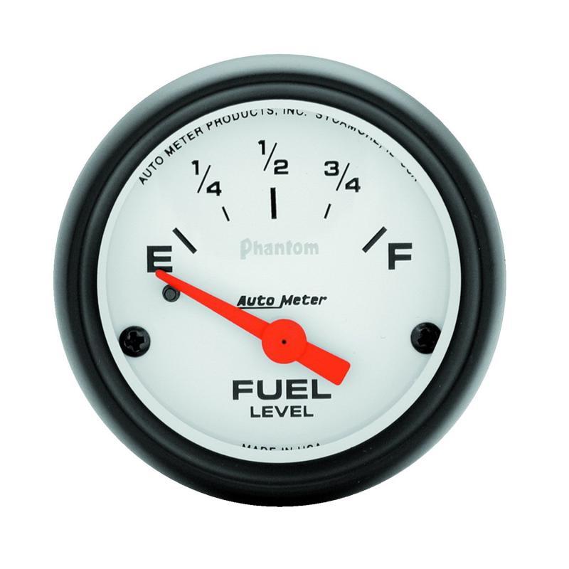 AutoMeter GAUGE; FUEL LEVEL; 2 1/16in.; 240OE TO 33OF; ELEC; PHANTOM