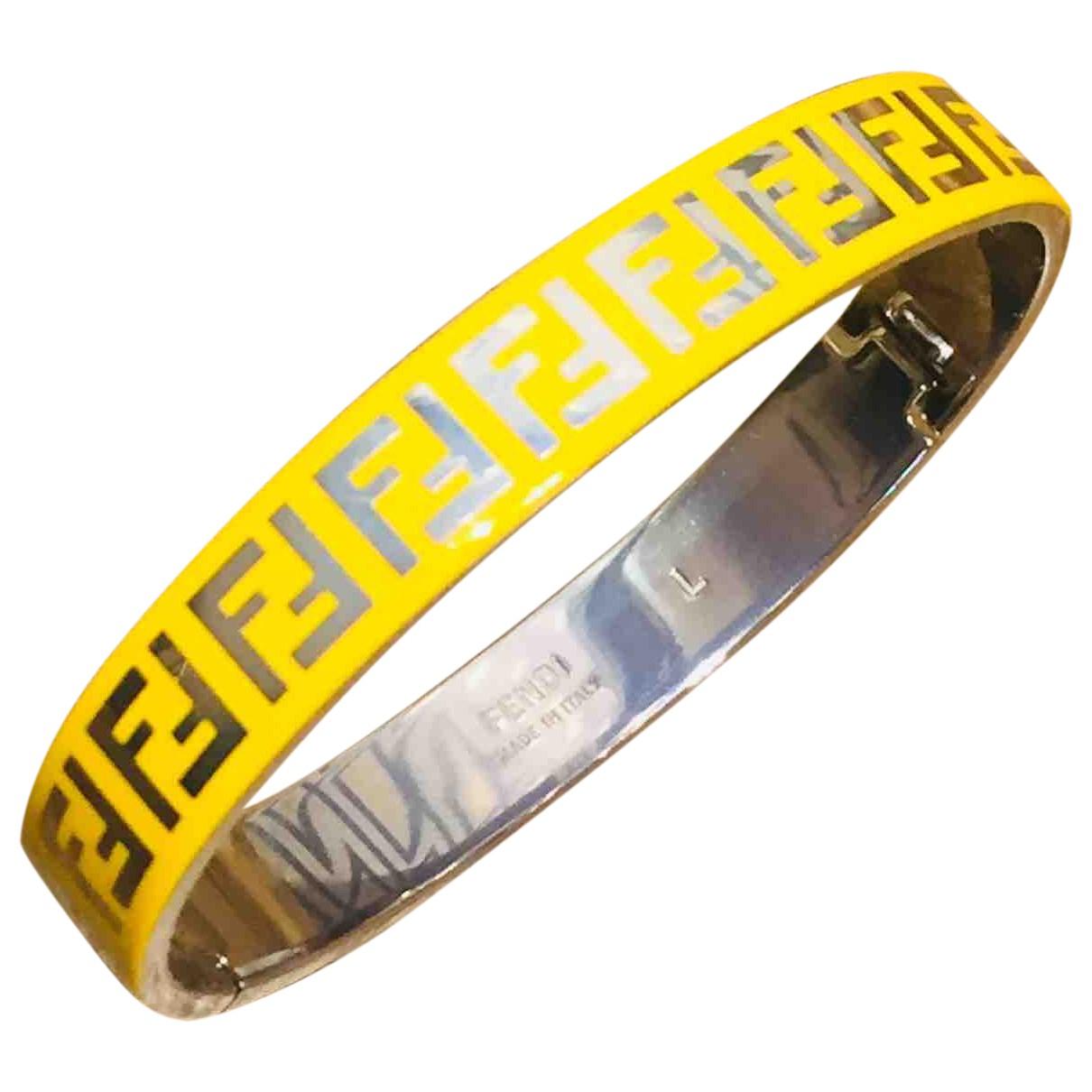 Fendi \N Armband in  Gelb Metall