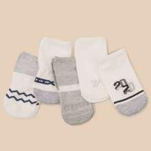 5 pares calcetines patron numero
