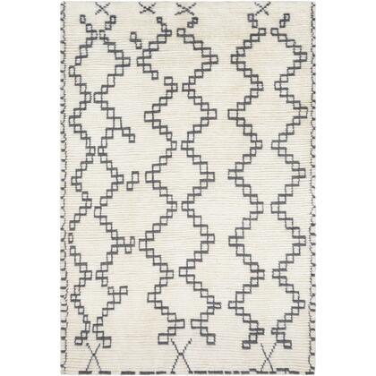 Beni Ourain BON-2301 6 x 9 Rectangle Global Rug in Cream  Medium
