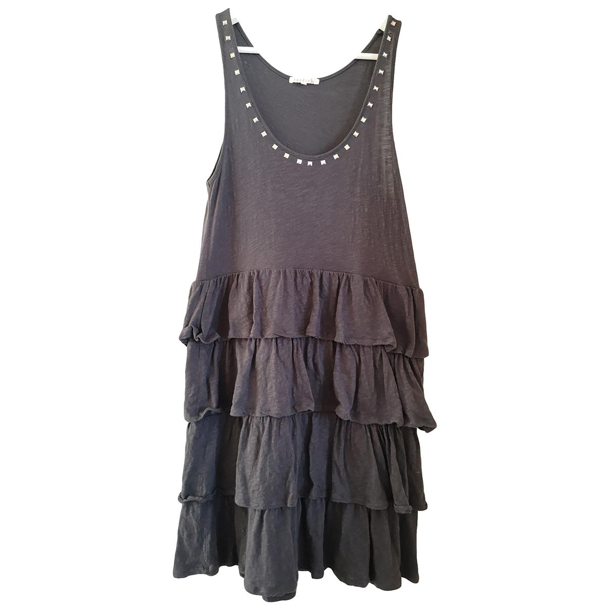 Sandro \N Grey Cotton dress for Women 38 FR