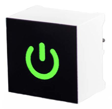 VCC Capacitive Touch Switch ,Illuminated, Green (10)