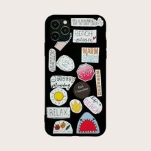 1 pieza funda de iphone con letra