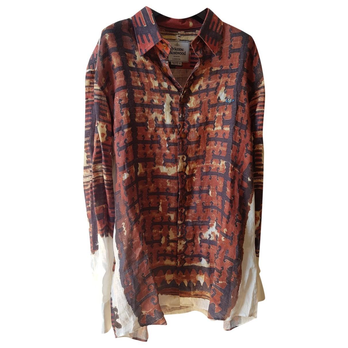 Vivienne Westwood \N Hemden in  Braun Leinen