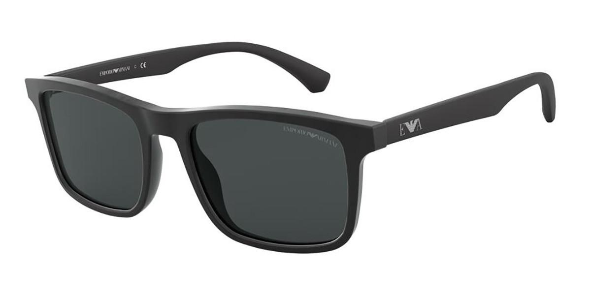 Emporio Armani EA4137F Asian Fit 504287 Men's Sunglasses Black Size 54
