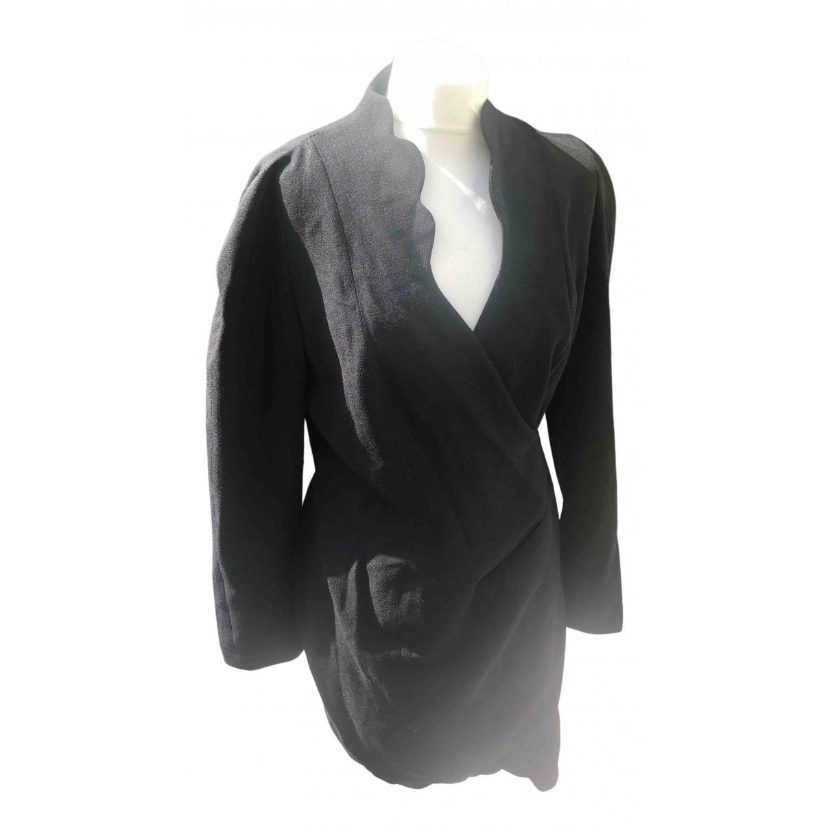 Thierry Mugler \N Black Wool dress for Women 46 IT