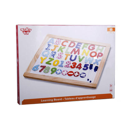 Tooky Toy Learning Board MDF Pinewood in Close Box 17