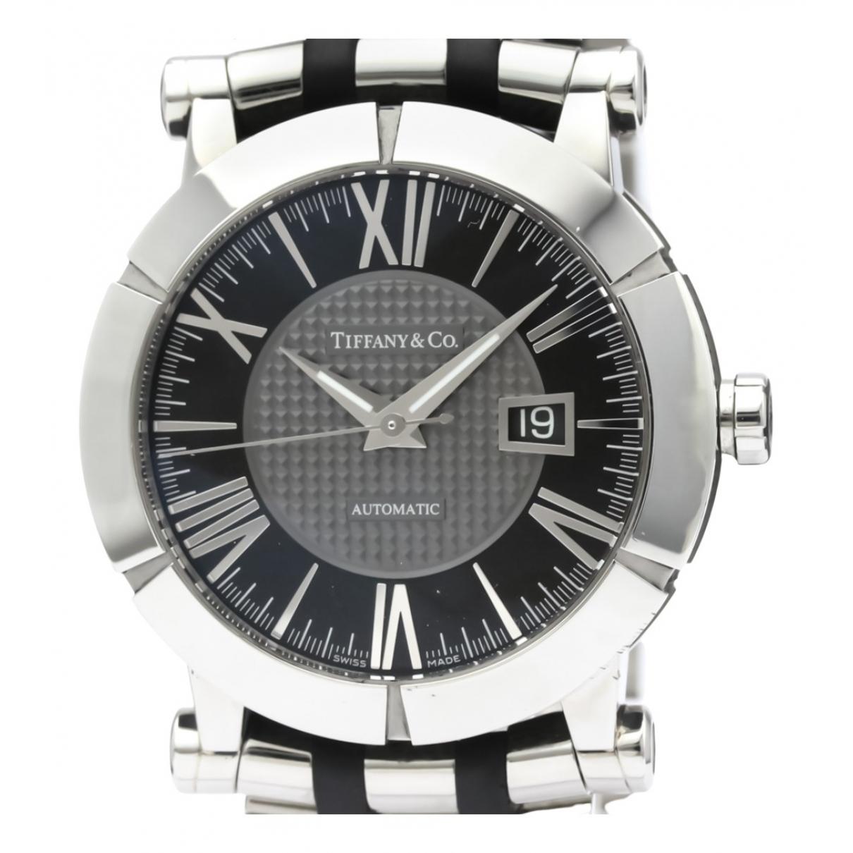 Tiffany & Co \N Black Steel watch for Men \N