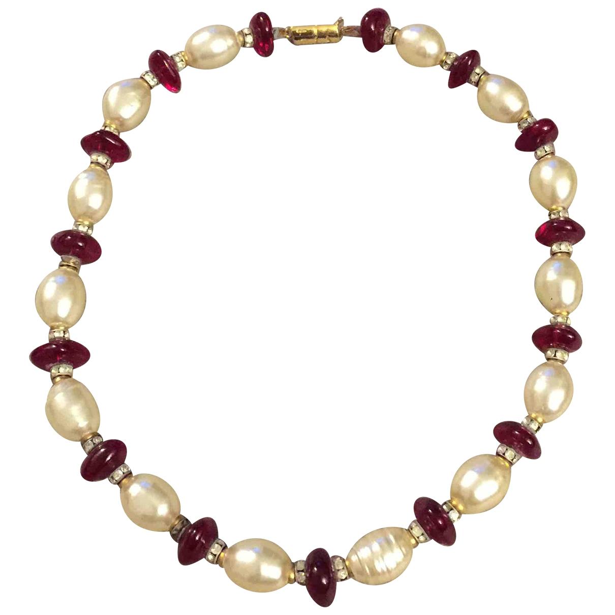 - Collier Nacre pour femme en perles - rouge