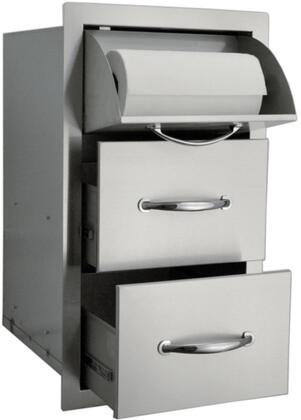 TDC20X30 Built In Stainless Steel Paper Towel Holder and Drawer with Flat Frame  Flush Mount and Self Rimming