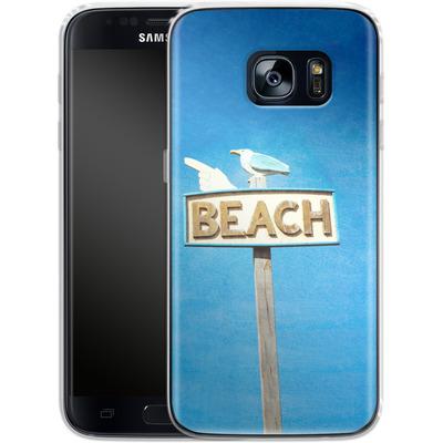Samsung Galaxy S7 Silikon Handyhuelle - Beach von Joy StClaire