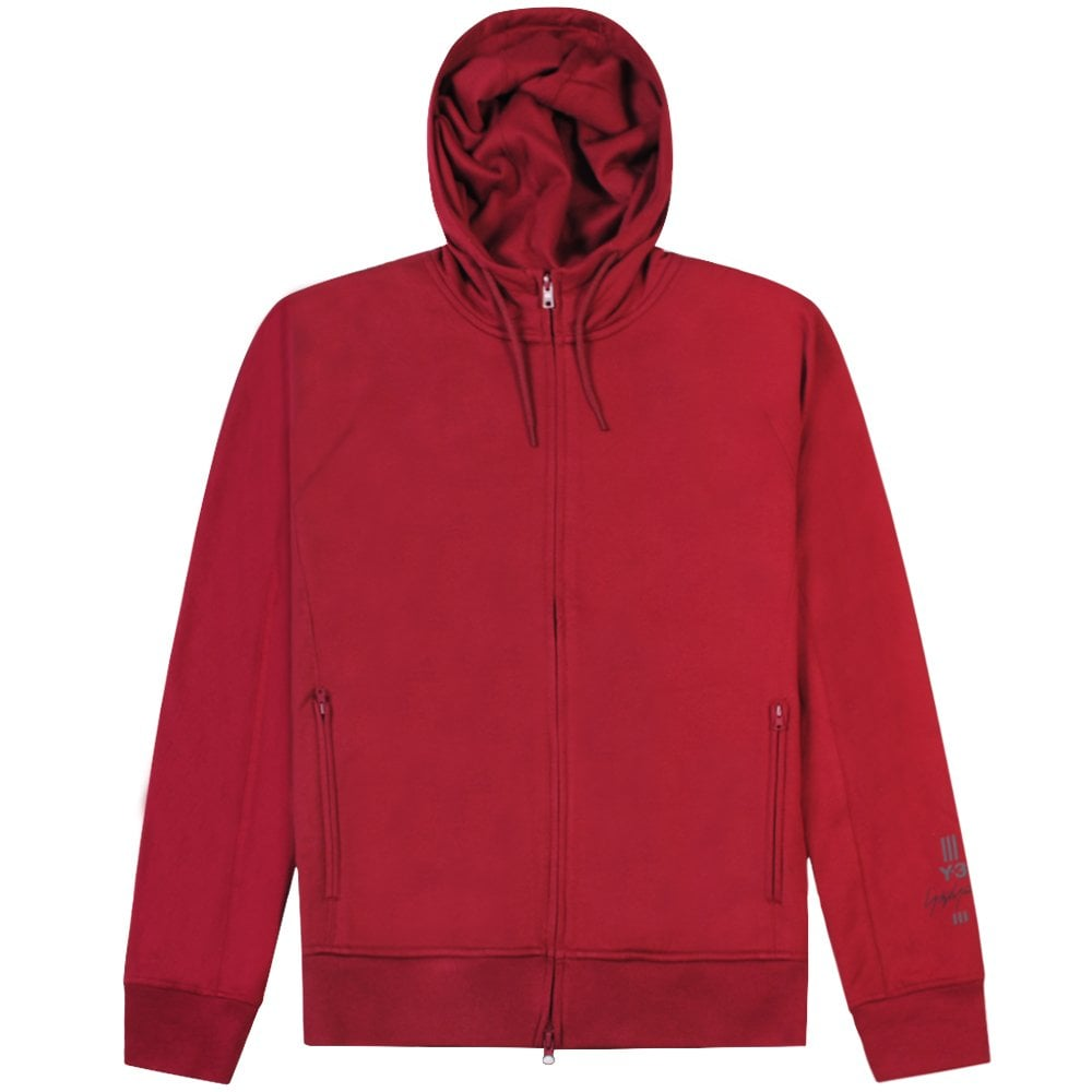 Y-3 Arm Logo Hoodie Burgundy Colour: GREEN, Size: LARGE